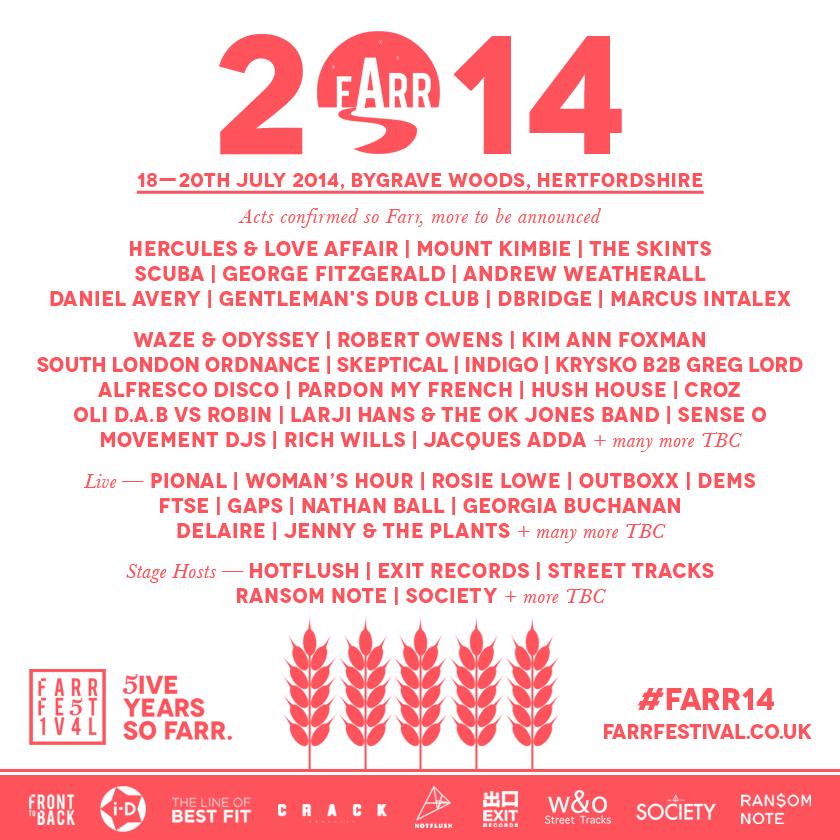 farr 2014 lineup
