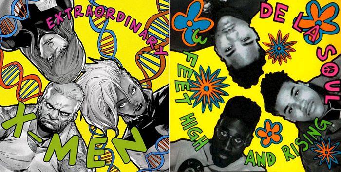 07-Extraordinary-X-Men-1-artwork-by-Sanford-Green-De-La-Soul039s-3-Feet-High-and-Rising