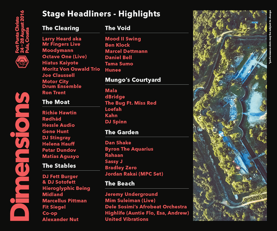 headliners - dimensions