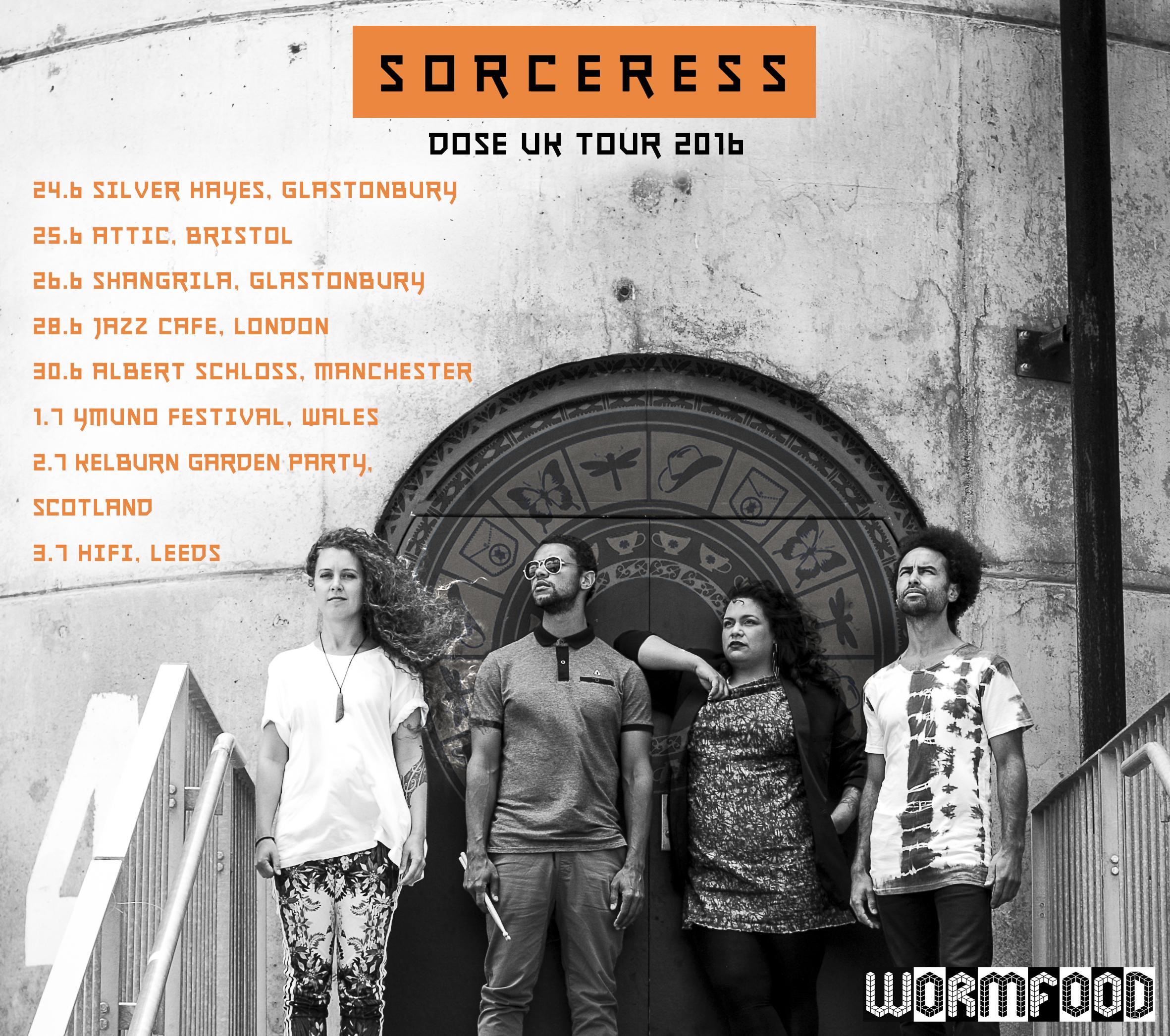 Sorceress Dose UK tour square